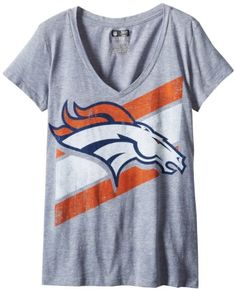 Amazon.com: Denver Broncos Women's Majestic Fitted V-Neck Tee: Clothing