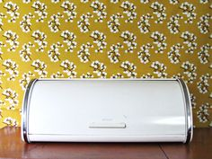 Retro Brabantia Bread bin via LoomAndLathe. #kitchen