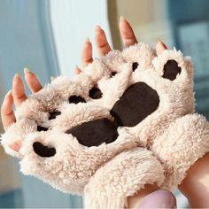 Manusi de iarna Labe de animale, cu degete, plus calduros