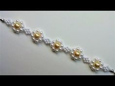 Two beautiful beaded simple bracelet -1pattern. DIY elegant pearl bracelets - YouTube