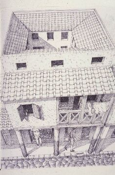 Insula ~ Roman domestic architecture - illustration by David Macaulay