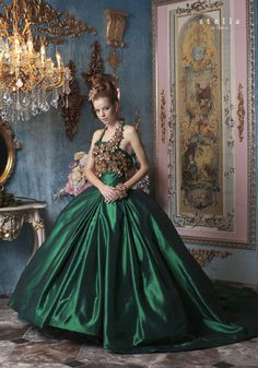 """Fashion shoots for Stella De Libero are always beyond stunning with so many lavish details all focused on """"the gown""""."""