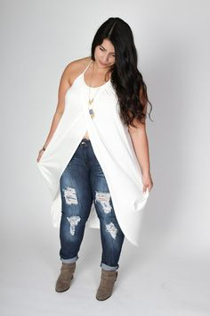 Plus Size Clothing for Women - Distressed Skinny Jeans (Sizes 16 - 22) - Society+ - Society Plus - Buy Online Now!