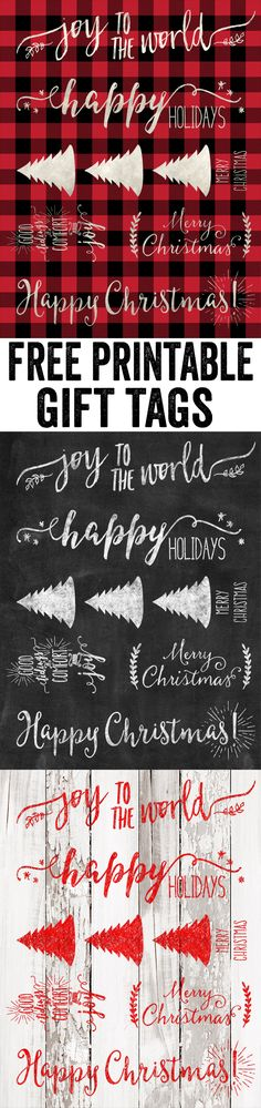LOVE these FREE printable Christmas gift tags by www.shanty-2-chic.com! So many options to match all wrapping paper... And they are FREE!