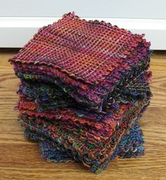 little squares - great for scrap yarn to make a blanket - pot holder loom?