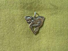 Pendant Celtic Cat. Sterling siver celtic amulet. by AmritaSPB