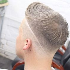 Bald Fade with Crew Cut and Brushed Up Fringe