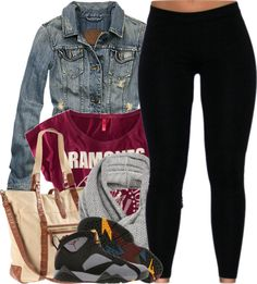 A fashion look from January 2013 featuring H&M t-shirts, Abercrombie & Fitch jackets and H&M shoulder bags. Browse and shop related looks. Curvy Fashion, Teen Fashion, Fashion Outfits, Fashion Styles, Fashion Ideas, Dope Outfits, Fall Outfits, Red Outfits, Swag Outfits