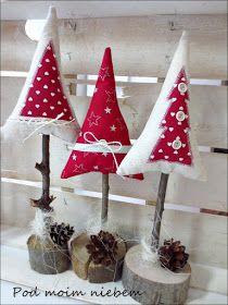 More fabric Christmas trees Fabric Christmas Trees, Felt Christmas Decorations, Christmas Ornament Crafts, Christmas Sewing, Diy Christmas Tree, Christmas Projects, Holiday Crafts, Christmas Holidays, Christmas Wreaths