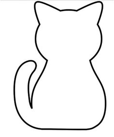 These are actually free applique patterns, but I'd love to do something for Halloween with this cat (garland?) There's also directions on how to applique, if the mood strikes! Cat Template, Applique Templates, Applique Patterns, Applique Designs, Quilt Patterns, Sewing Patterns, Loom Patterns, Fabric Crafts, Sewing Crafts