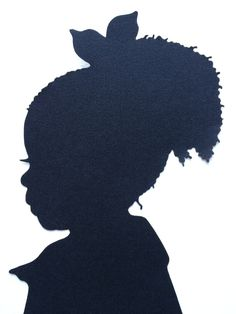 Dress up your nursery, little ones room or give an amazing birthday present to your loved ones with my hand cut silhouette portraits. Classy and dramatic, each of my unique hand cut silhouettes is mad Black Girl Art, Black Women Art, Black Girl Magic, Black Art, Art Girl, Portrait Silhouette, Silhouette Art, Black Woman Silhouette, Stencils
