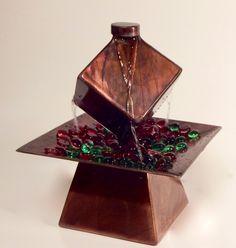 Fountain, Housewarming Gift, Tabletop Fountain, Welded Art, Indoor Outdoor Fountain, Patio decor, Sculpture, Water Feature - $315.00 USD