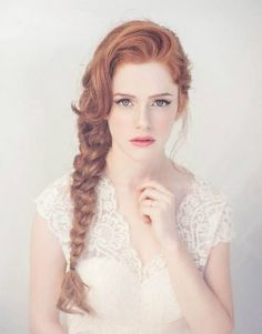 pretty bridal braid ~ we ❤ this! moncheribridals.com