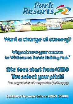 Bring your own caravan to Withernsea Sands East Coast, Yorkshire, Bridlington: £3,150.00 End Date: Sunday Mar-20-2016… #caravan #caravans