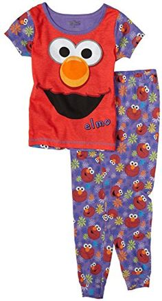 Sesame Street Little Girls'  Pj Set  These cozy cotton Sesame Street Pajamas are sure to be your kid favorite! They feature purple all over Elmo print pants and a comfy short sleeved t shirt top. 100% Cotton 100% Cotton Machine wash, tumble dry. 100% Cotton 100% Cotton Machine wash, tumble dry. Made In China  http://www.beststreetstyle.com/sesame-street-little-girls-pj-set/