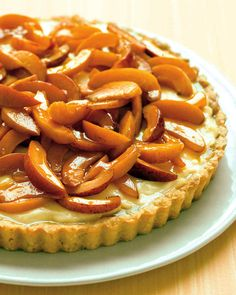 A blanket of ripe apricots makes this dessert extra alluring. For ease, make the filling and tart shell in advance; store separately. Once assembled, refrigerate up to 3 hours.