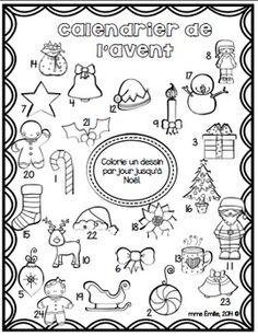 Bon Plan 71 Calendriers de l'avant à colorier