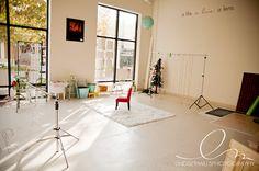 studio space - xmas light backdrop
