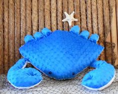 Nautical pillows sea life plushies novelty by Fleeceofnature Nautical Baby Nursery, Nautical Pillows, Blue Pillows, Decorative Cushions, Etsy Shipping, Plush Animals, Plushies, Coastal Living, Kids Toys