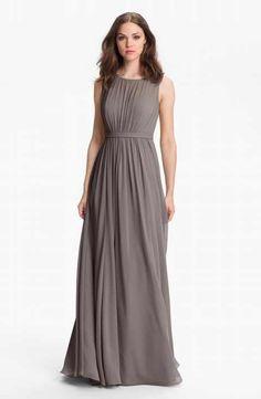 Jenny Yoo 'Vivienne' Pleated Chiffon Gown