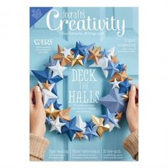 Buy subscriptions and issues of docrafts® Creativity - November Available on Desktop PC or Mac and iOS or Android mobile devices. Hobbies And Crafts, Crafts To Sell, Paper Weaving, Deck The Halls, Craft Activities, Origami, November, Card Making, Jewelry Making