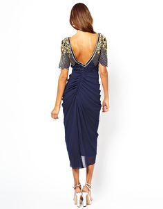 Virgos Lounge Denise Midi Dress with Embellished Shoulder
