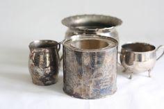 Vintage Silver Vases & Candle Holders