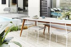 GlobeWest - Cancun Slat Dining Chair