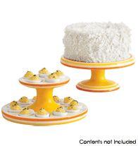 Dual Cake and Egg Pedestal