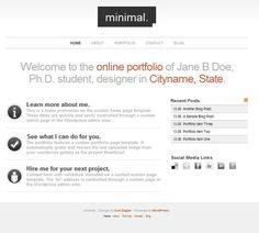 23 New Minimal WordPress Themes Mobile Ui Design, Wordpress Theme, Web Design, Graphics, My Love, Minimalism, My Boo, Design Web, Charts