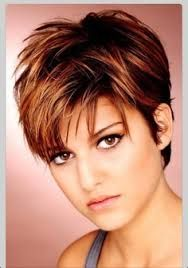 short haircut for round face - Google Search