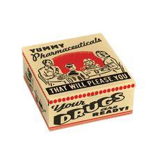 BlueQ Yummy Pharmaceuticals Petite Tin Cigar Box-SECOND