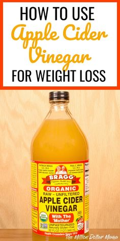 How to Use Apple Cider Vinegar for Weight Loss - There are tons of uses for Apple Cider Vinegar, including the ability to help with weight loss. Click through to read how Apple Cider Vinegar can help you detox and lose weight.