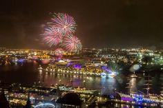 827. Hafengeburtstag Hamburg - Bild anklicken für alle Hintergrund Infos      Feuerwerk beim Hafengeburtstag Hamburg, Foto: © AIDA Cruises/CHLietzmann