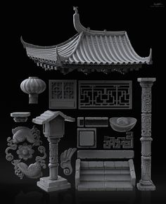 http://www.zbrushcentral.com/showthread.php?196705-Chinese-pack #chinesearchitecture