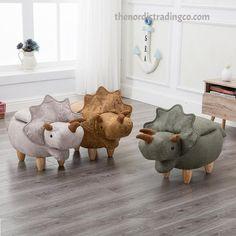 Dinosaur Jurassic Era Furniture Stool Ottoman Storage Box Boys Bedroom Play Room Boy Nursery Dinosaurs Theme Kids Storage Chair Nordic Home #dinosaurs #boysroom #nursery #boysfurniture