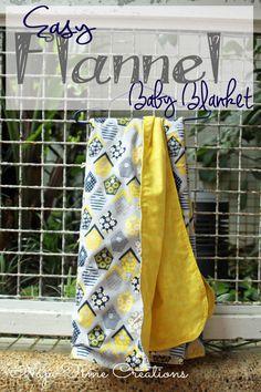Sewing Tutorial.  Easy Flannel Baby Blanket.  So sweet.