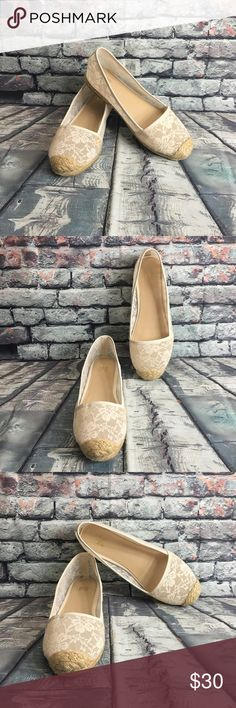 Victoria's Secret nude lace espadrilles size 8 Victoria's Secret shoes nude lace espadrilles size 8 perfect condition Victoria's Secret Shoes Espadrilles