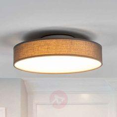 Fabric LED ceiling lamp Saira, 30cm, grey   Lights.co.uk Low Ceiling Lighting, Bollard Lighting, Led Ceiling Lamp, Strip Lighting, Modern Lighting, Outdoor Decorative Lights, Tree Curtains, Pillar Lights, Living Room Light Fixtures