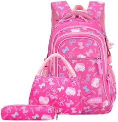 waterproof Children School Bags for Girls princess school Backpacks Kids Printing Backpacks set Schoolbag kids mochila infantil Girl Backpacks, School Backpacks, Mochila Galaxy, Backpack For Teens, School Bags For Girls, Pencil Bags, Cute Korean, I Love Makeup, Kids Prints