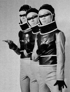 """Xians, from the aptly named Planet X, from the Godzilla movie, """"Invasion of Astro Monster"""" with those glasses, they remind me of Devo. Science Fiction, Pulp Fiction, Vintage Space, Vintage Photos, Futurama, Cyberpunk, Japanese Monster, Atomic Age, Future Fashion"""