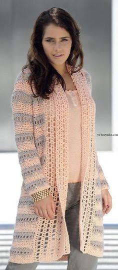 Fabulous Crochet a Little Black Crochet Dress Ideas. Georgeous Crochet a Little Black Crochet Dress Ideas. Crochet Cardigan Pattern, Crochet Jacket, Crochet Blouse, Crochet Poncho, Crochet Sweaters, Moda Crochet, Pull Crochet, Crochet Bodycon Dresses, Black Crochet Dress