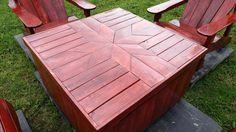 DIY Pallet Adirondack Chairs Set with Coffee Table - Pallets Pro