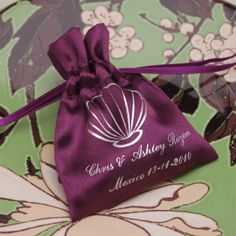 Personalized Satin Favor Bags - Favor Bags - Favor Packaging - Wedding Favors & Party Supplies - Favors and Flowers