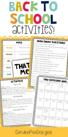 $4.00 8 Fun getting to know you activities geared towards middle school!