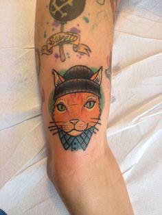 Gangsta cat tattoo