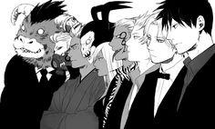 Yondemasuyo Azazel-san, Azazel, Lucifer (Yondemasuyo Azazel-san), Beelzebub (Yondemasuyo Azazel-san), Gusion (Yondemasuyo Azazel-san)    Yondemasuyo Azazel-san/#1308404 - Zerochan