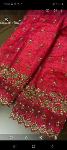 Hand Work Blouse Design, Simple Blouse Designs, Fancy Blouse Designs, Wedding Saree Blouse Designs, Half Saree Designs, Traditional Blouse Designs, Peacock Embroidery Designs, Sarees, Boutique