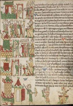 Eike <von Repgow>   Heidelberger Sachsenspiegel — Ostmitteldeutschland, Anfang 14. Jh. Cod. Pal. germ. 164 Folio 12r