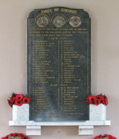 Great Houghton Miners' Welfare Hall Memorial Tablet, WW1 & WW2
